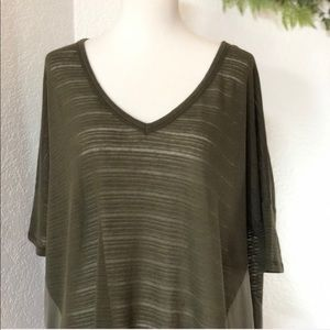 Rachel Roy • Green Slouch v-neck tissue Blouse